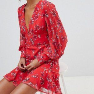 Keepsake Heart&Soul Floral Print Ruffle Dress